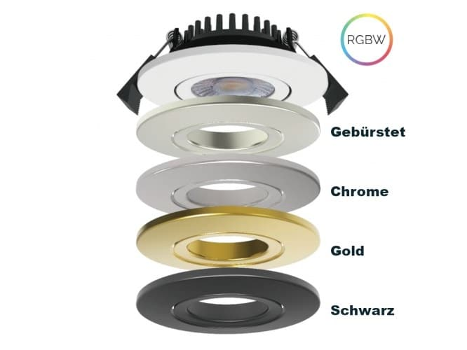 LED-SwingSpot 24V, 5W, 2700K,CRI90, verschiedene Covers, RGBW LED-Spot dimmbar