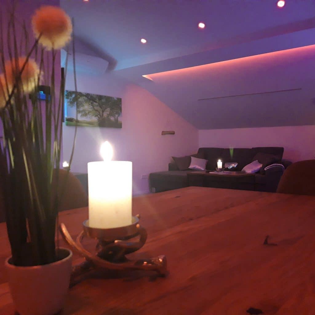 LED-Spots: Farblicht Wohnzimmer